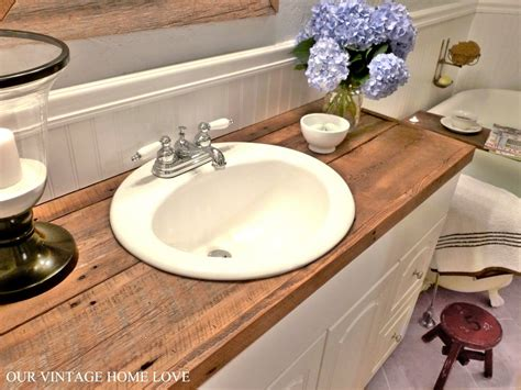 bathroom vanity countertop ideas your countertops diy salvaged wood counter cheap and so much more awesome than tile for