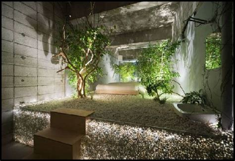 Impressive Japanese Interior Design With Chic Look Nuance Interior Wall Garden
