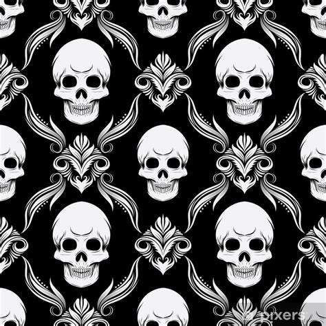 Black And White Skull Wall