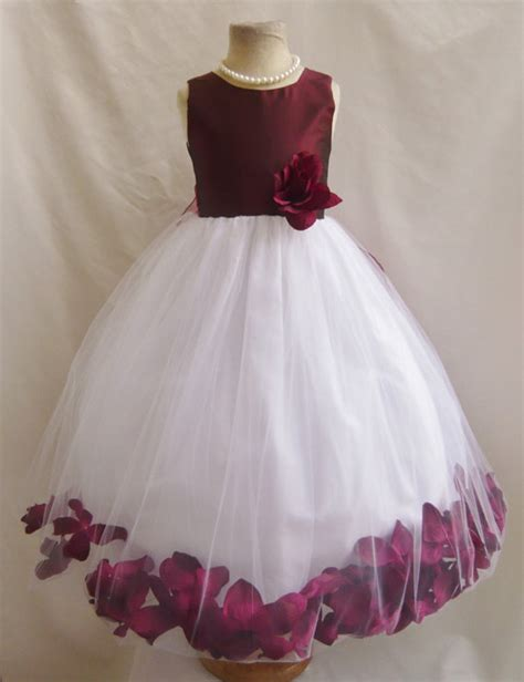 Dress Olla Flowers burgundy and light pink wedding the merry