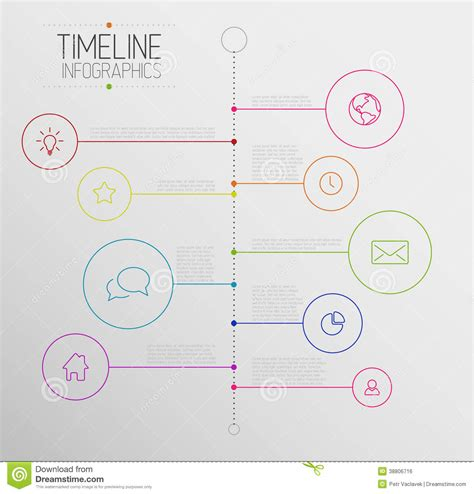 timeline report template infographic timeline report template stock vector image