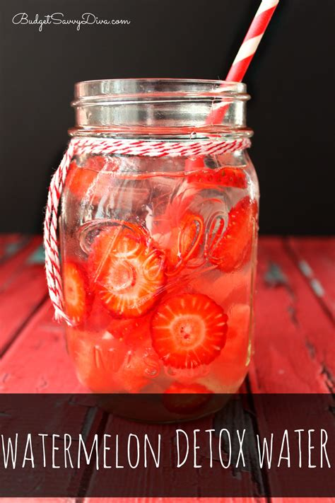 How To Make Strawberry Detox Water by Watermelon Detox Water Recipe Budget Savvy