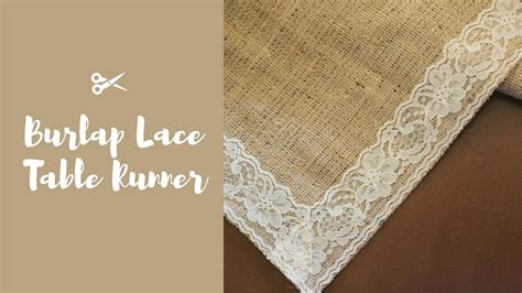 burlap table runner with lace diy burlap lace table runner