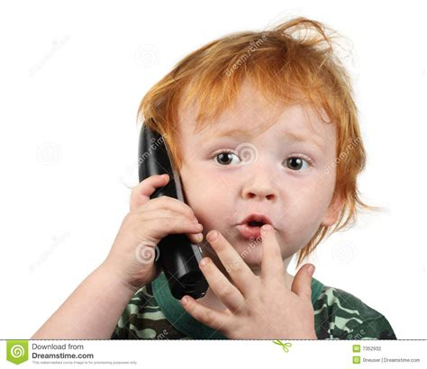 the talking boy talking on the phone stock photo image of portrait 7352932