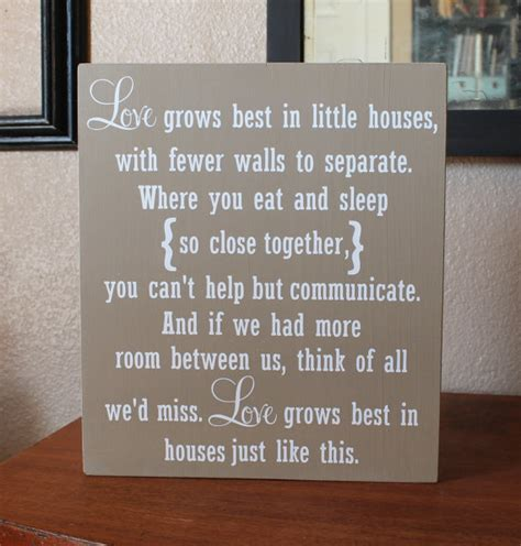 love grows best in little houses love grows best in little houses hand painted wood sign