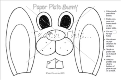 paper plate bunny easter teacher resources worksheets