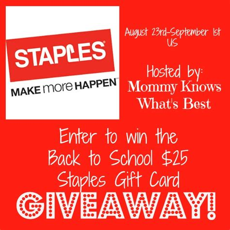 Staples Gift Cards - staples gift card giveaway the stuff of success