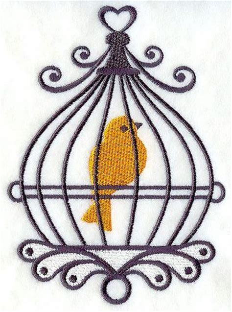 bird in birdcage tattoo design