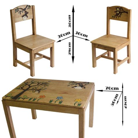 childrens painted table and chairs playroom monkey wooden table and chairs set buy kid