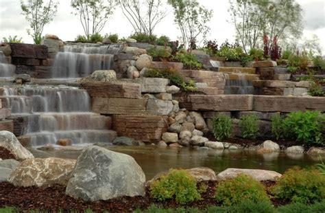 rosetta stone retaining wall rosetta outcropping stone landscaping pinterest