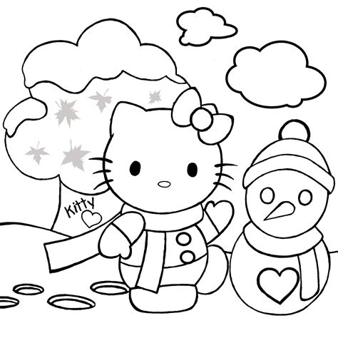 christmas kitty coloring page printables colouring pages on pinterest halloween