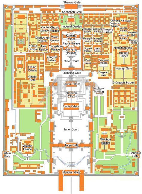 Japanese Floor Plan by Forbidden City Map Big 171 China Travel Tips Tour Beijing Com