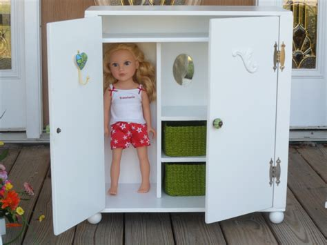 girl armoire doll armoire wardrobe for 18 dolls