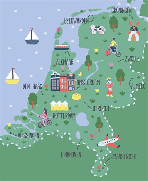 netherlands land map 17 best ideas about netherlands map on