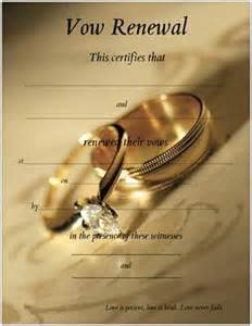 vow renewal certificate template vow renewal certificate with gold wedding bands