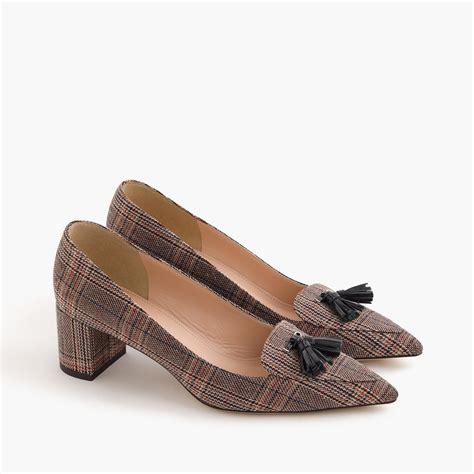 jcrew shoes j crew avery heels in tweed lyst