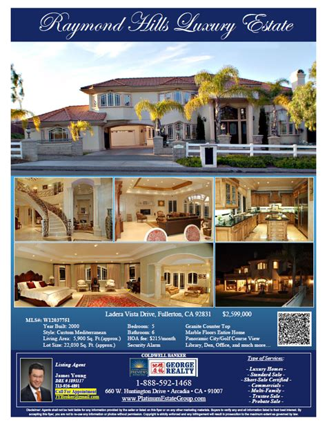 real estate property flyers los angeles ca real estate search