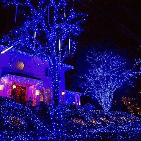 solar christmas string lights easydecor 200 led 72ft blue