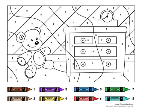 large printable numbers in color color by number printables color by number printables in
