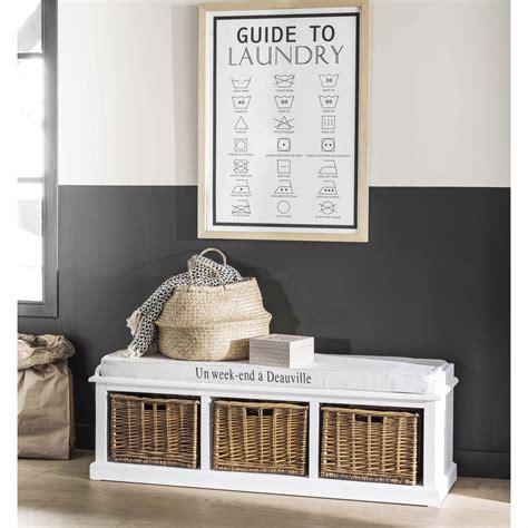Comptoir Des Epices Maison Du Monde by Banc De Rangement 3 Compartiments Blanc Comptoir Des