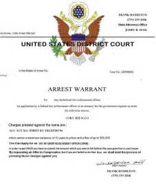 arrest warrant template the gallery for gt band aid template