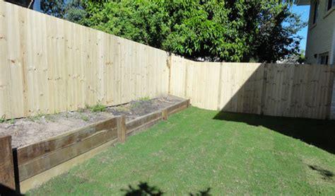 scarborough timber paling fence hardwood retaining
