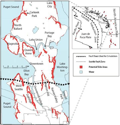 seattle landslide map seattle landslide area map maps charts graphs