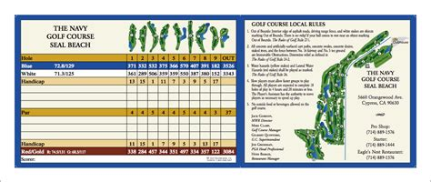 card course scorecards and directions
