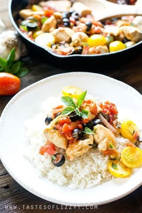 Pdf Mediterranean Table Simple Recipes Healthy by Mediterranean Chicken One Skillet Healthy Easy Dinner In