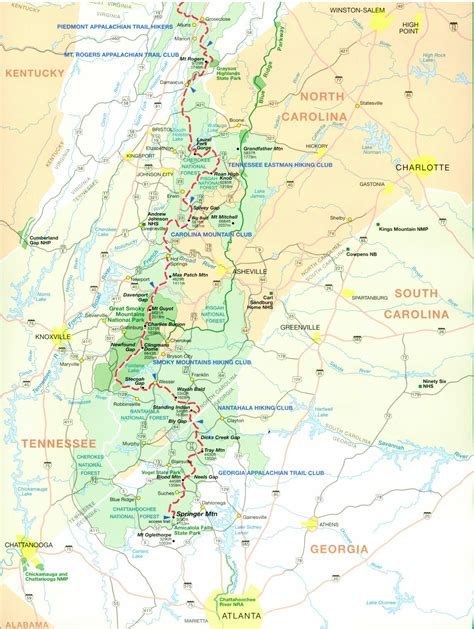 the appalachian trail map official appalachian trail maps