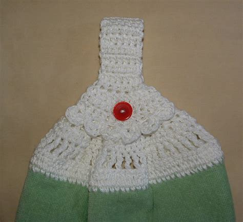 crochet pattern kitchen towel topper free crochet dish towel pattern crochet and knitting