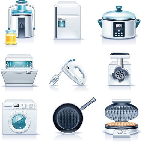 free kitchen appliances kitchen appliances vector free vector 4vector