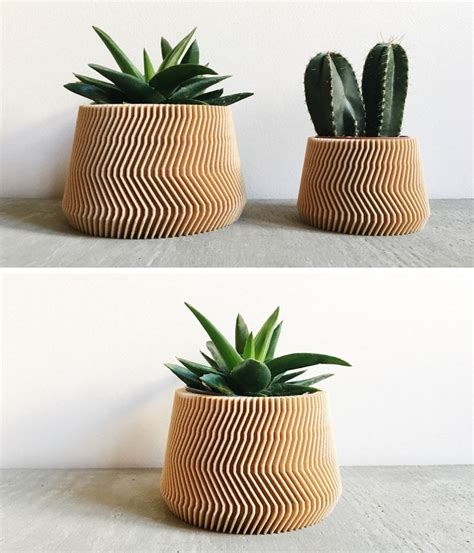 Biodegradable Planters by These Biodegradable Planters Are Made From 3d Printed Wood