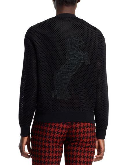 Applique Baseball Jacket stella mccartney stallion applique mesh baseball jacket