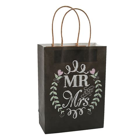 Gift Bags Wedding by 12 X Mr And Mrs Chalkboard Wedding Gift Bags