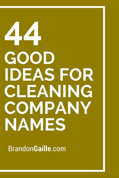 44 ideas for cleaning company names ideas cleaning and company names