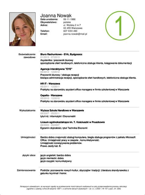 Free Online Resume Templates Word by Kreator Cv Do Pdf