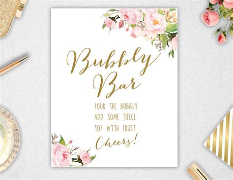 Bubbly Bar Sign // Printable // INSTANT DOWNLOAD // 8x10