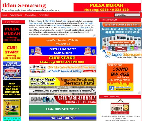 membuat website iklan baris dengan joomla download script website gratis i sript website toko online