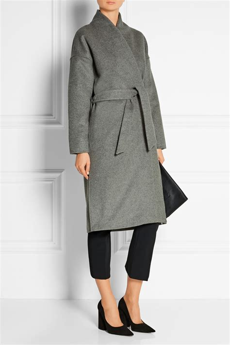 Wool Belted A Line Coat From Ms by Lyst Tot 234 Me Tot 234 Me Chelsea Belted Wool Blend Felt Coat