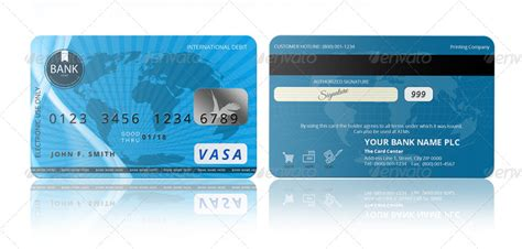 Credit Template For Photoshop Psd Credit Card Template By Pmvch Graphicriver