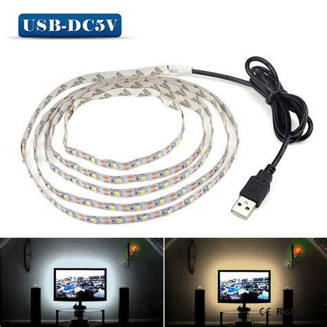 led desk light strip 5v 50cm 1m 2m 3m 4m 5m usb cable power led strip light