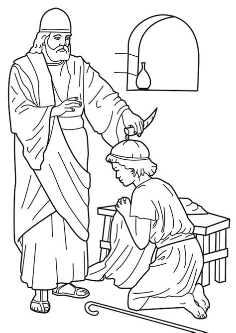 coloring page david becomes king david becomes king coloring page az coloring pages