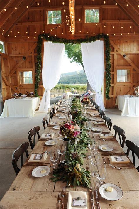 picture  beautiful barn wedding table settings