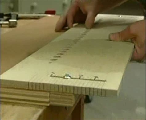 Shelf Pin Template by The Master Woodbutcher S Shop Built Shelf Pin Jig Picture Page