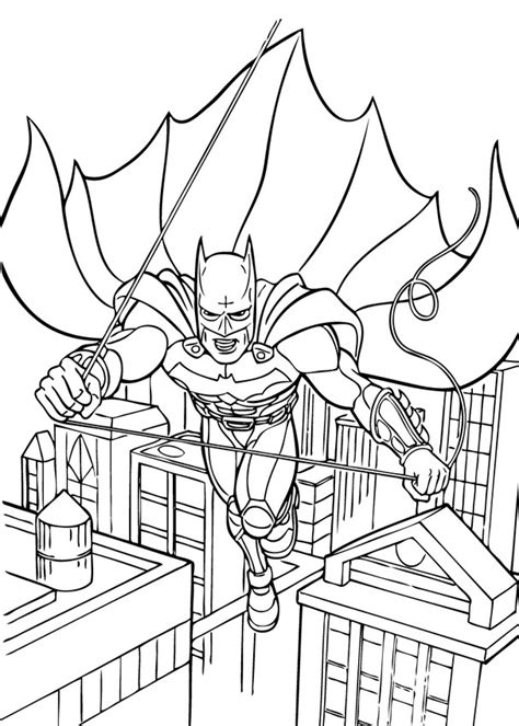 batman flying coloring pages hellokids com