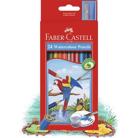 24 Watercolour Pencils Faber Castell faber castell watercolour pencils 24 pack officeworks