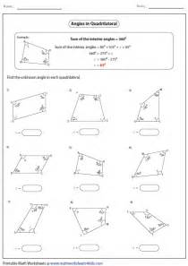 Find The Interior Angle Sum For Each Polygon Quadrilateral Worksheets