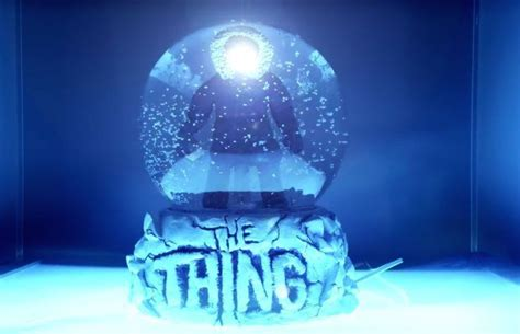 snow globe with fan fan made snowglobe brings the thing poster art to life