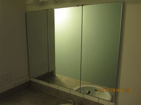 tri fold mirror bathroom cabinet enchanting 50 tri fold wall mirror decorating inspiration